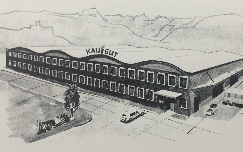 Historisches Foto vom Firmensitz in Bozen